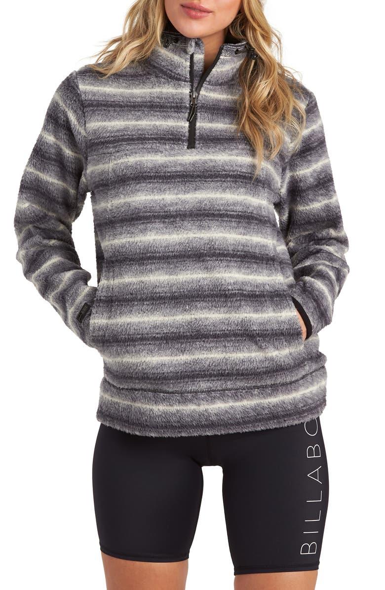 BILLABONG Boundary Fleece Pullover, Main, color, BLACK/ WHITE