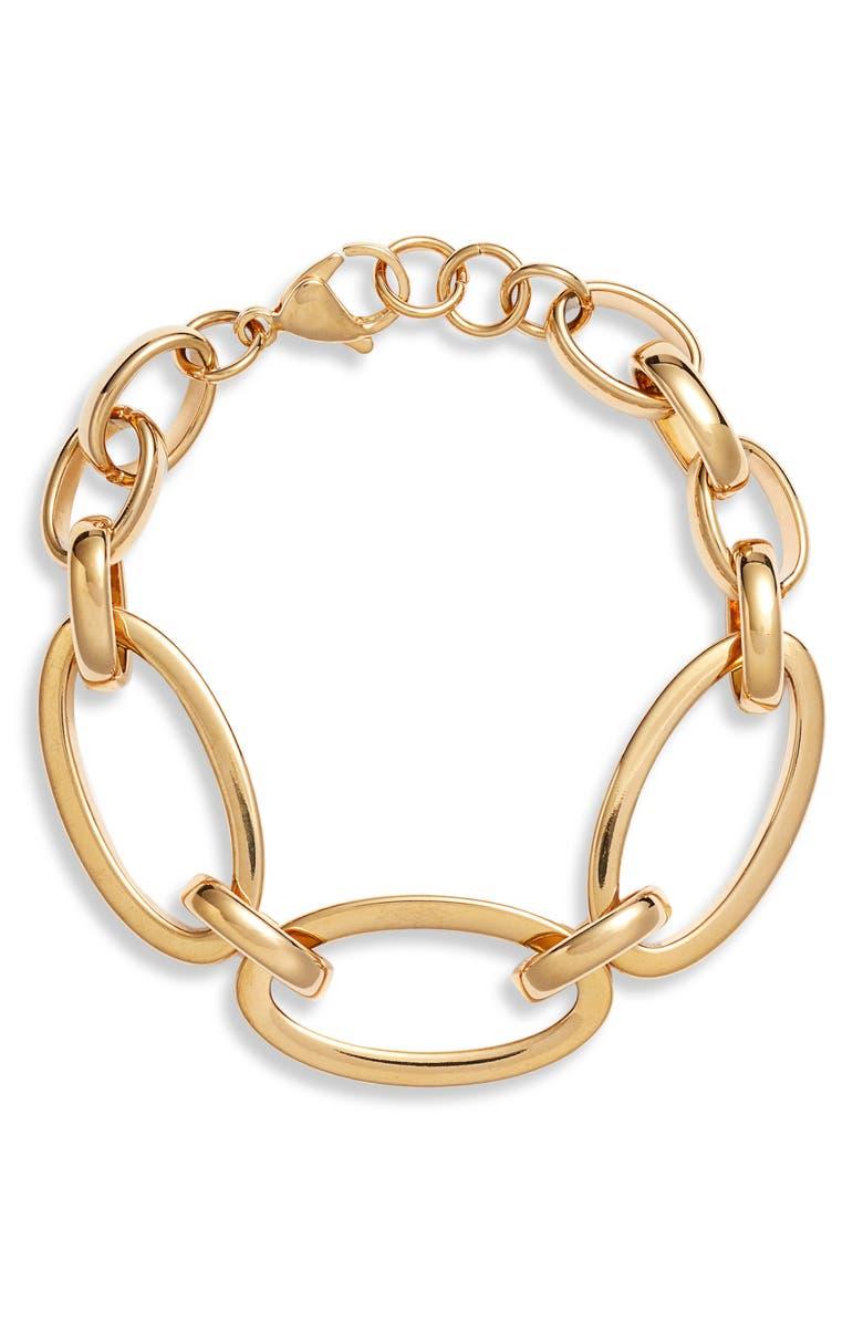 ELLIE VAIL Chain Link Bracelet, Main, color, GOLD