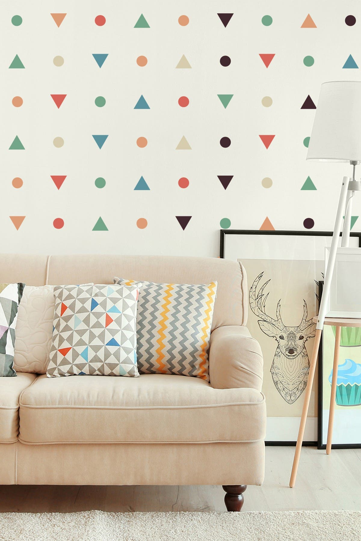 Image of WalPlus Flexi Mini Stickers Minimal Shapes Wall Stickers