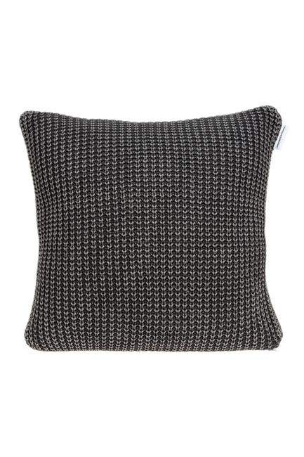 """Image of Parkland Collection Cabo Transitional Pillow - 20"""" x 20"""" - Charcoal"""