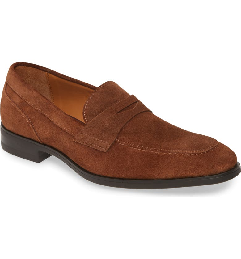 BRUNO MAGLI Brando Penny Loafer, Main, color, COGNAC SUEDE