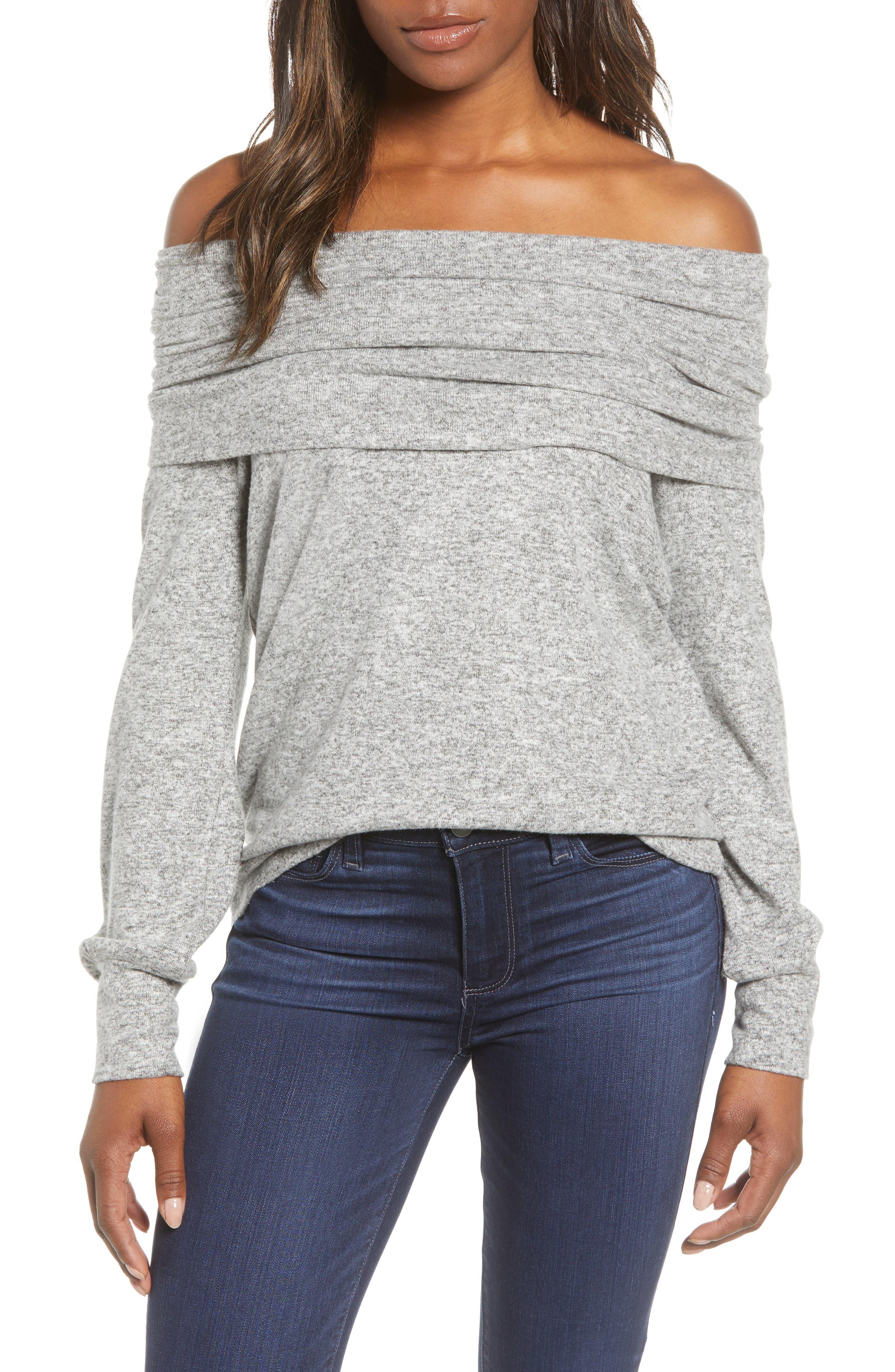 Gibson Cozy Fleece Convertible Neck Sweatshirt (Regular & Petite)