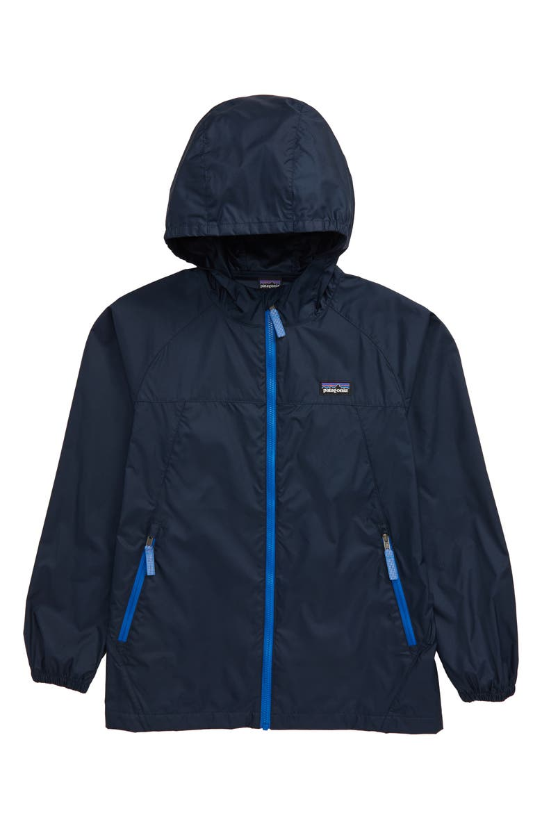 PATAGONIA Light & Variable<sup>™</sup> Wind & Water Resistant Hooded Jacket, Main, color, NEW NAVY
