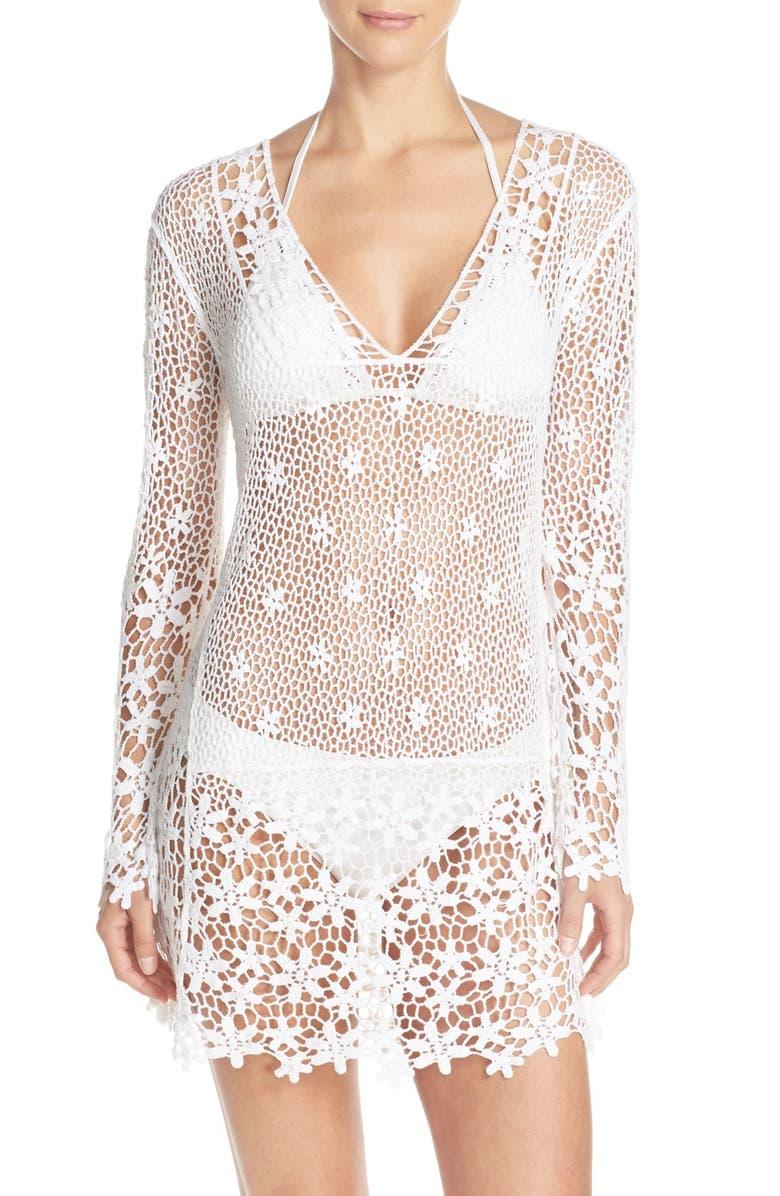 683e9d5798 J Valdi Crochet Cover-Up Tunic | Nordstrom