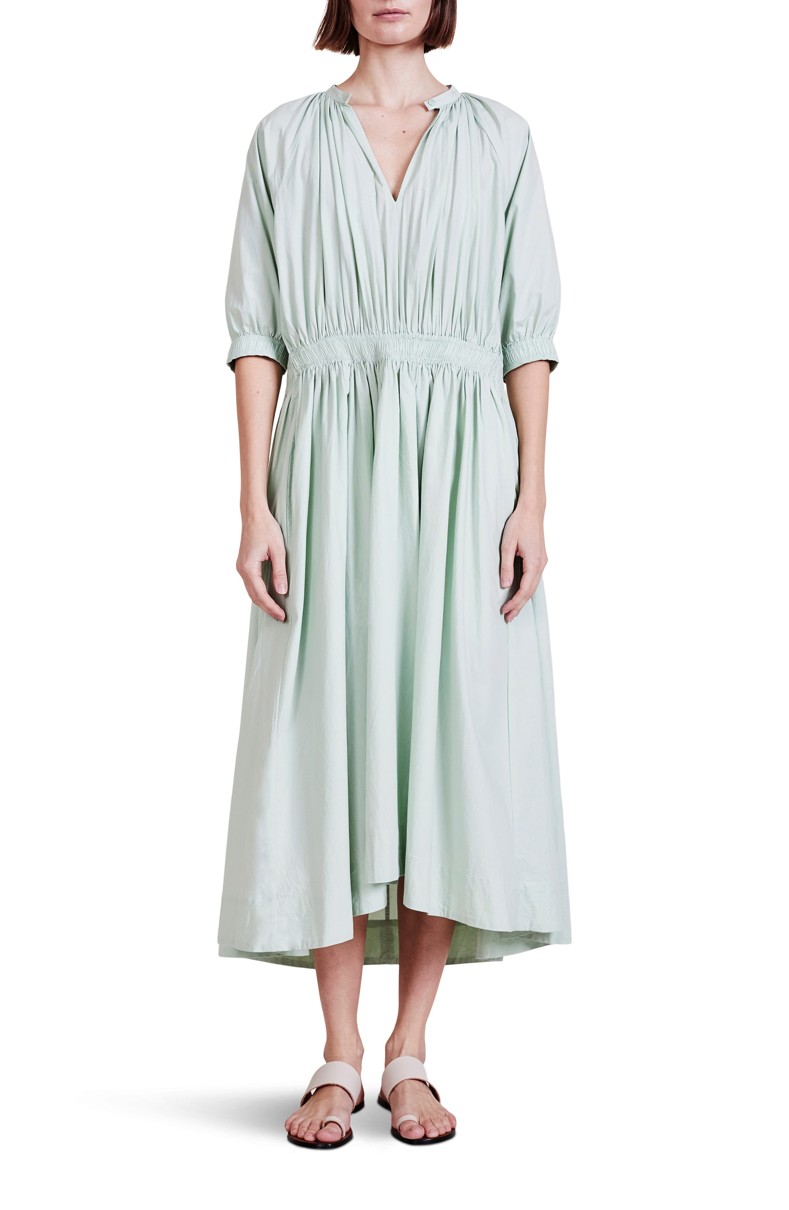 Cobano Organic Cotton High Low Midi Dress