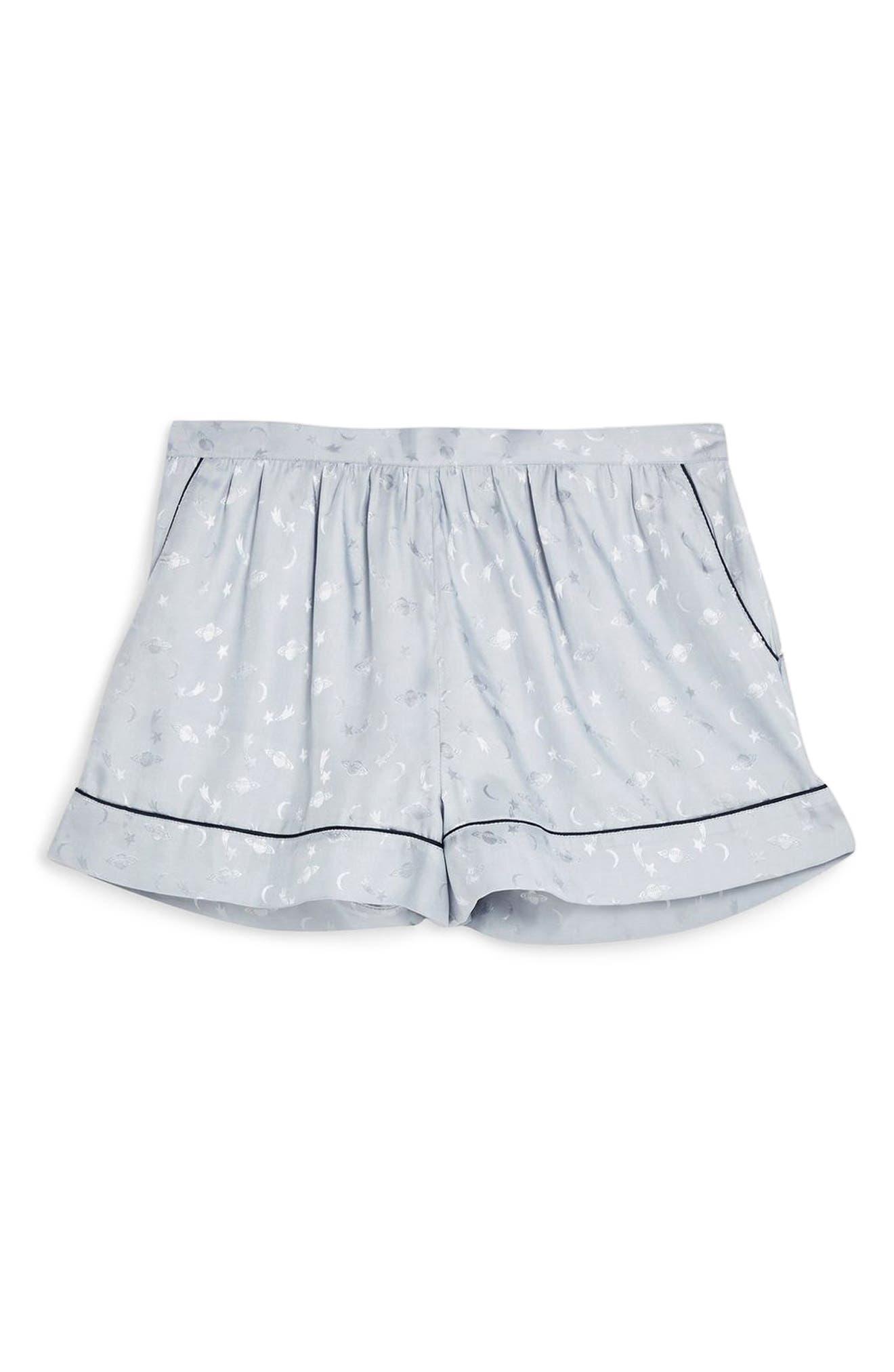 ,                             Space Jacquard Pajama Shorts,                             Alternate thumbnail 3, color,                             BLUE