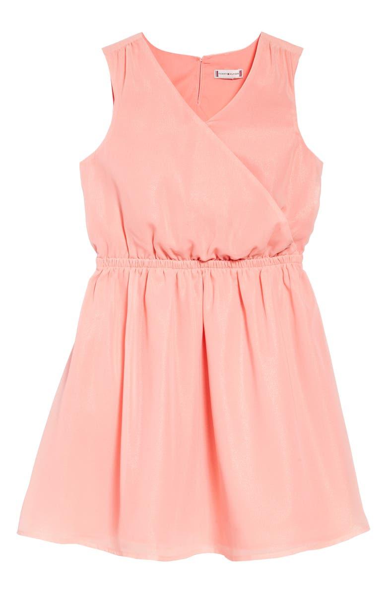 TOMMY HILFIGER Sleeveless Shimmer Dress, Main, color, 683