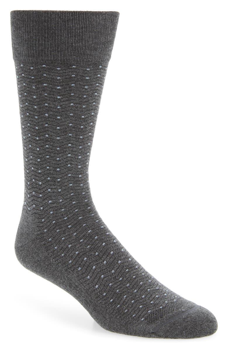 NORDSTROM MEN'S SHOP Chevron Dot Socks, Main, color, 021
