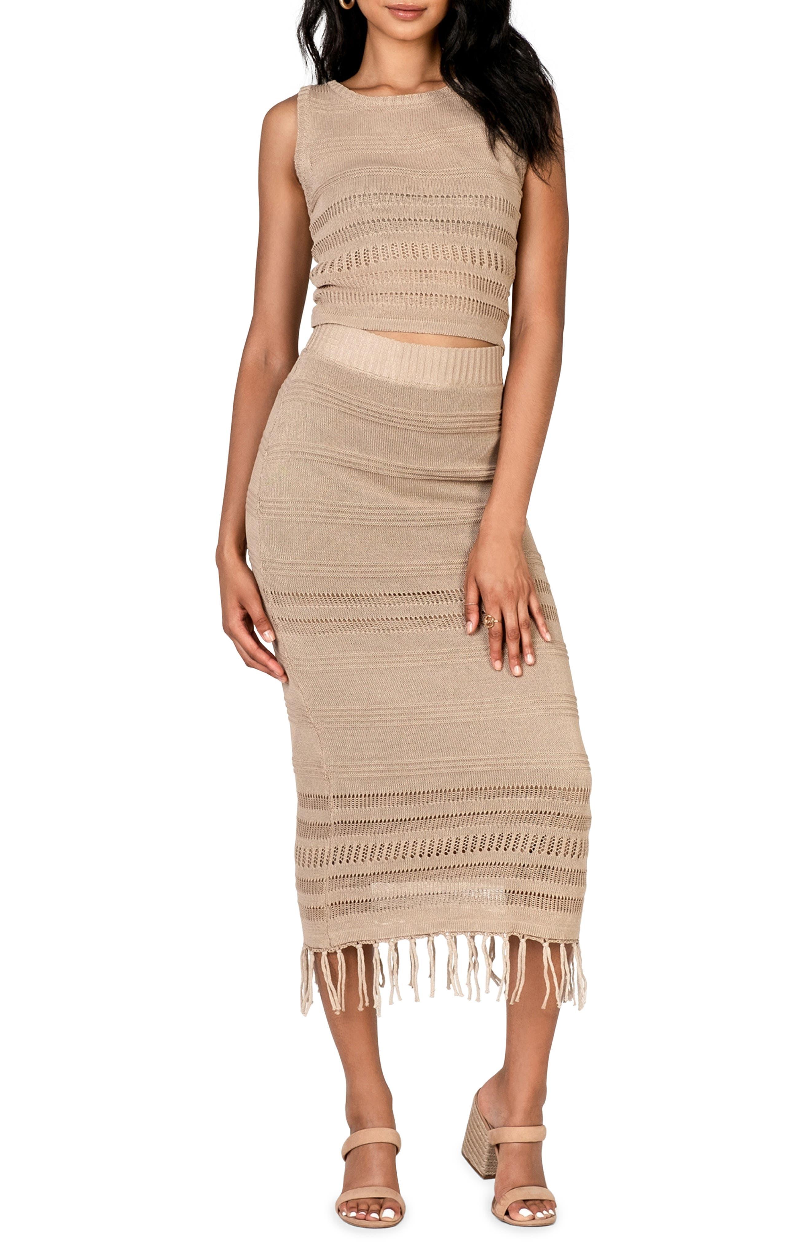 Women's Lost + Wander Coco Cabana Linen Crop Top