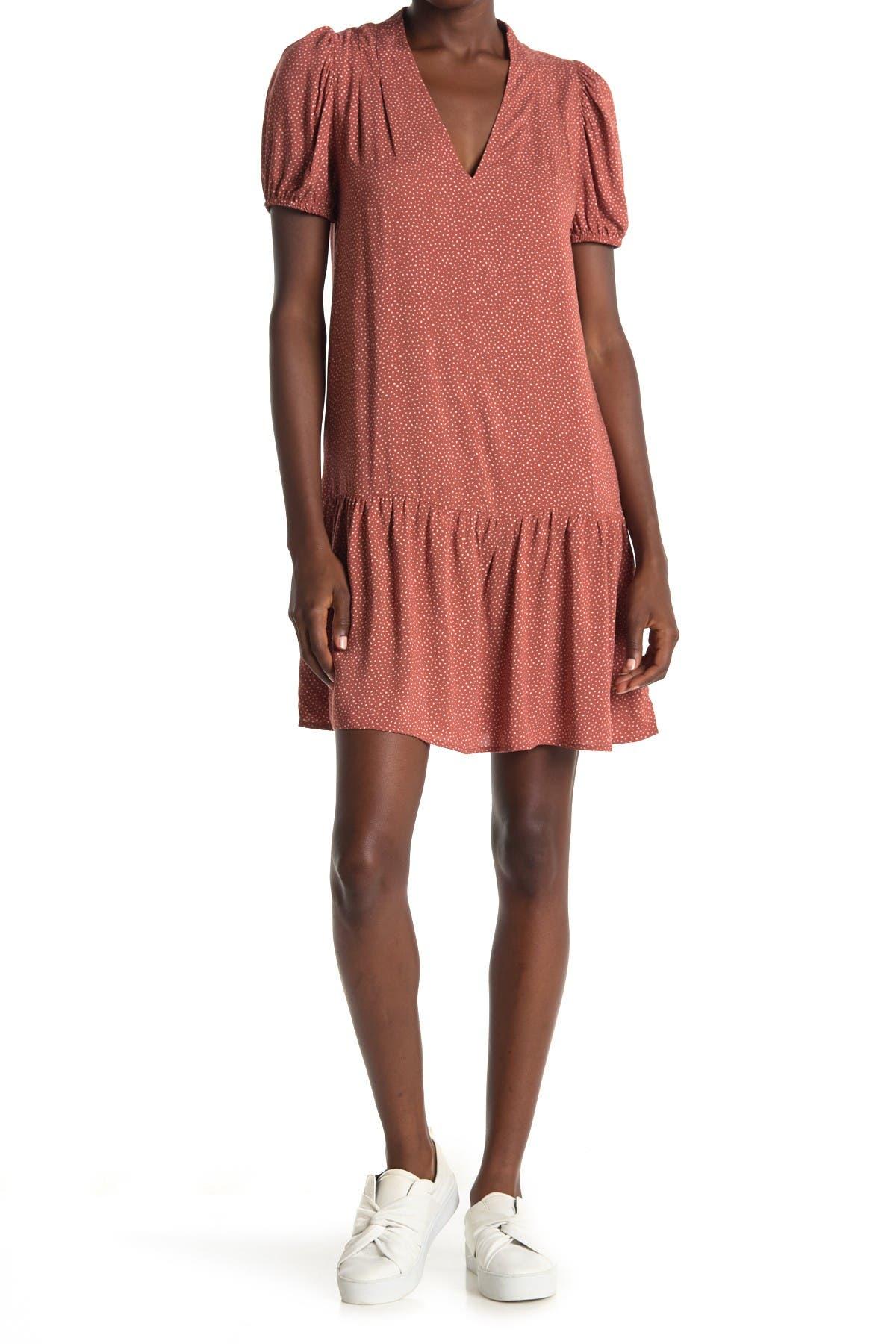 Image of GOOD LUCK GEM V-Neck Short Sleeve Dress
