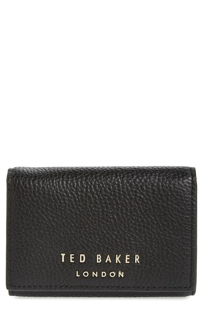 TED BAKER LONDON Odelle Leather Wallet, Main, color, BLACK