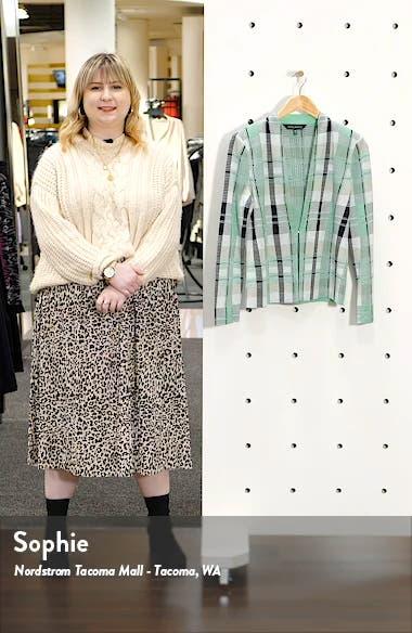 Plaid Jacquard Knit Jacket, sales video thumbnail