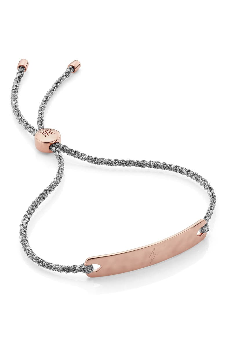 MONICA VINADER Engravable Havana Friendship Bracelet, Main, color, ROSE GOLD/ SILVER METALLICA