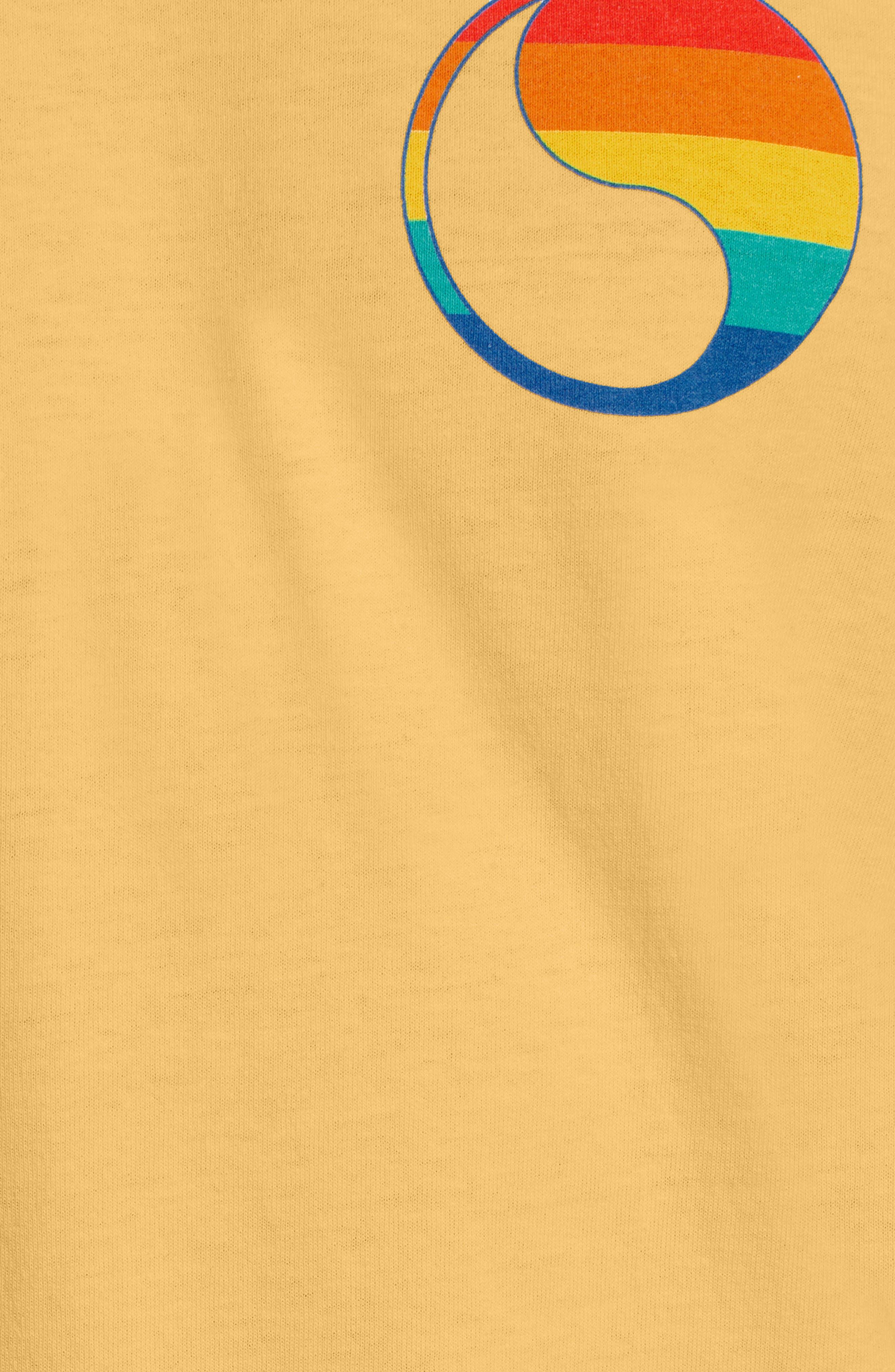 ,                             Free & Easy Rainbow Yin Yang Long Sleeve T-Shirt,                             Alternate thumbnail 5, color,                             YELLOW
