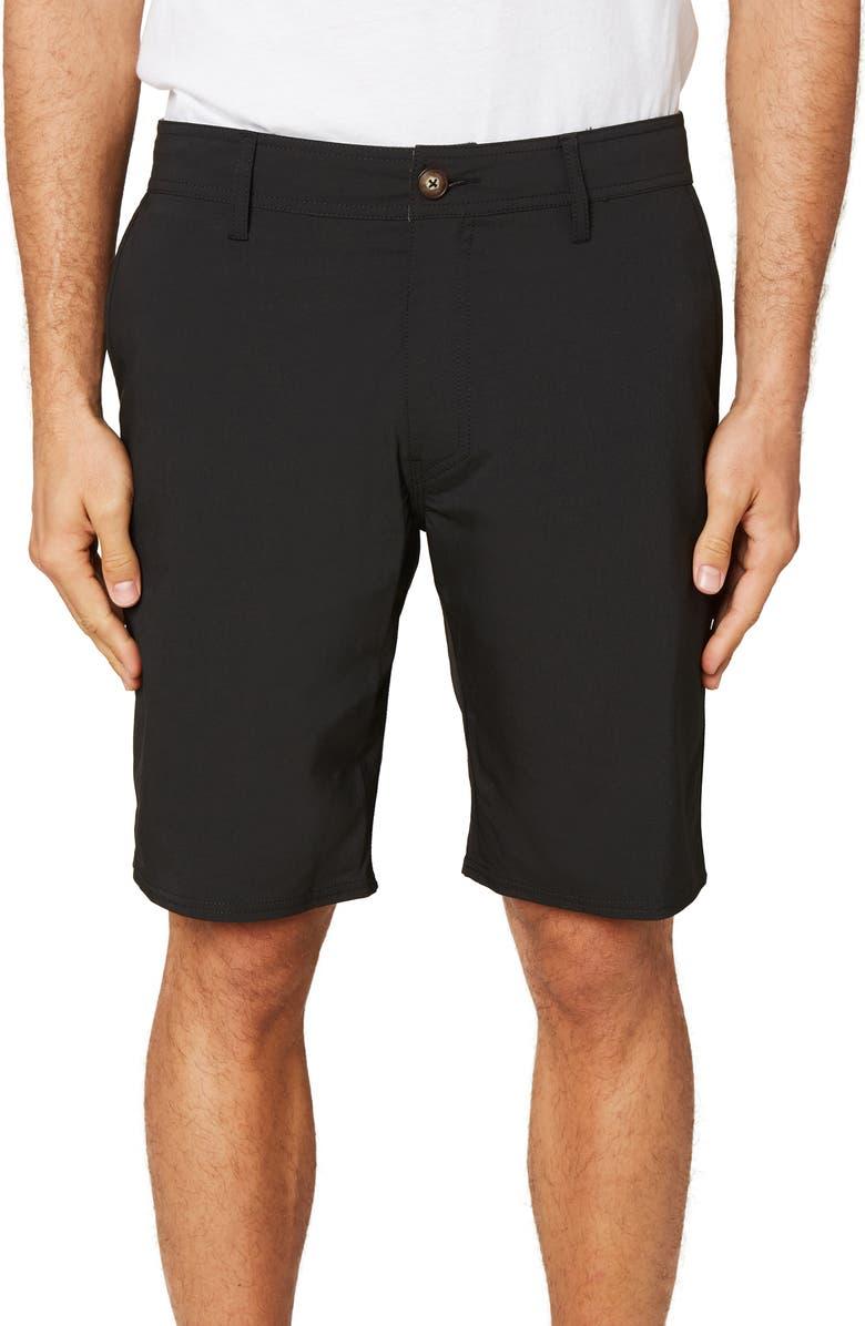 O'NEILL Stockton Hybrid Water Resistant Swim Shorts, Main, color, BLACK