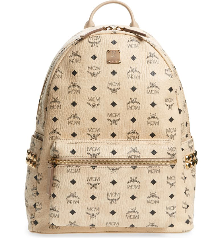 MCM Medium Stark Visetos Coated Canvas Backpack, Main, color, 260