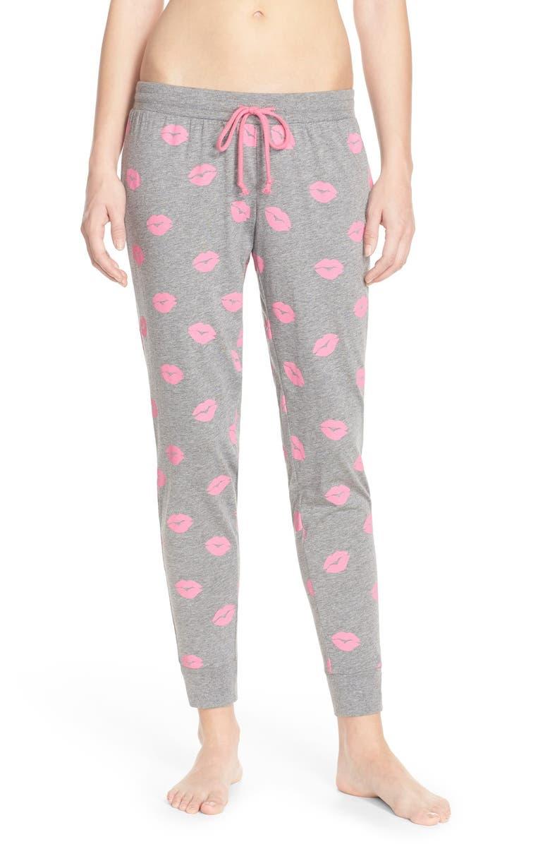PJ SALVAGE Pajama Jogger Pants, Main, color, 020
