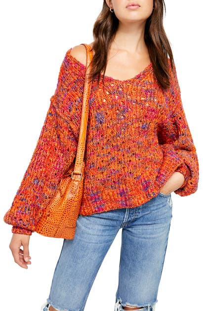 Free People Sweaters HIGHLAND V-NECK SWEATER