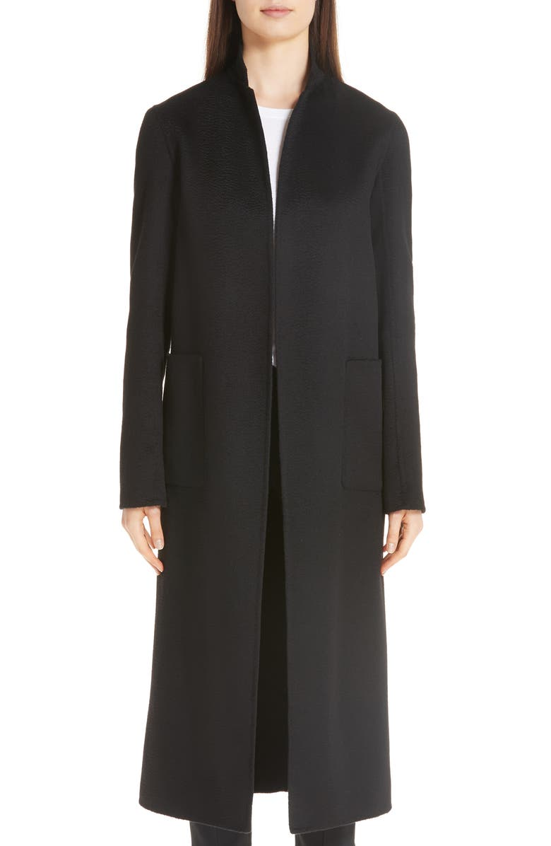 ADAM LIPPES Cashmere Coat, Main, color, BLACK
