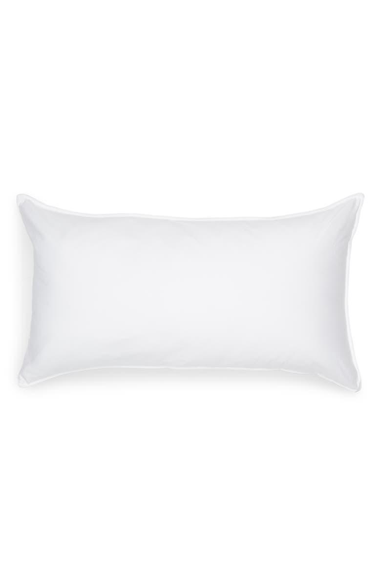 NORDSTROM PrimaLoft<sup>®</sup> Black Series Double Cover Down Alternative Pillow, Main, color, WHITE