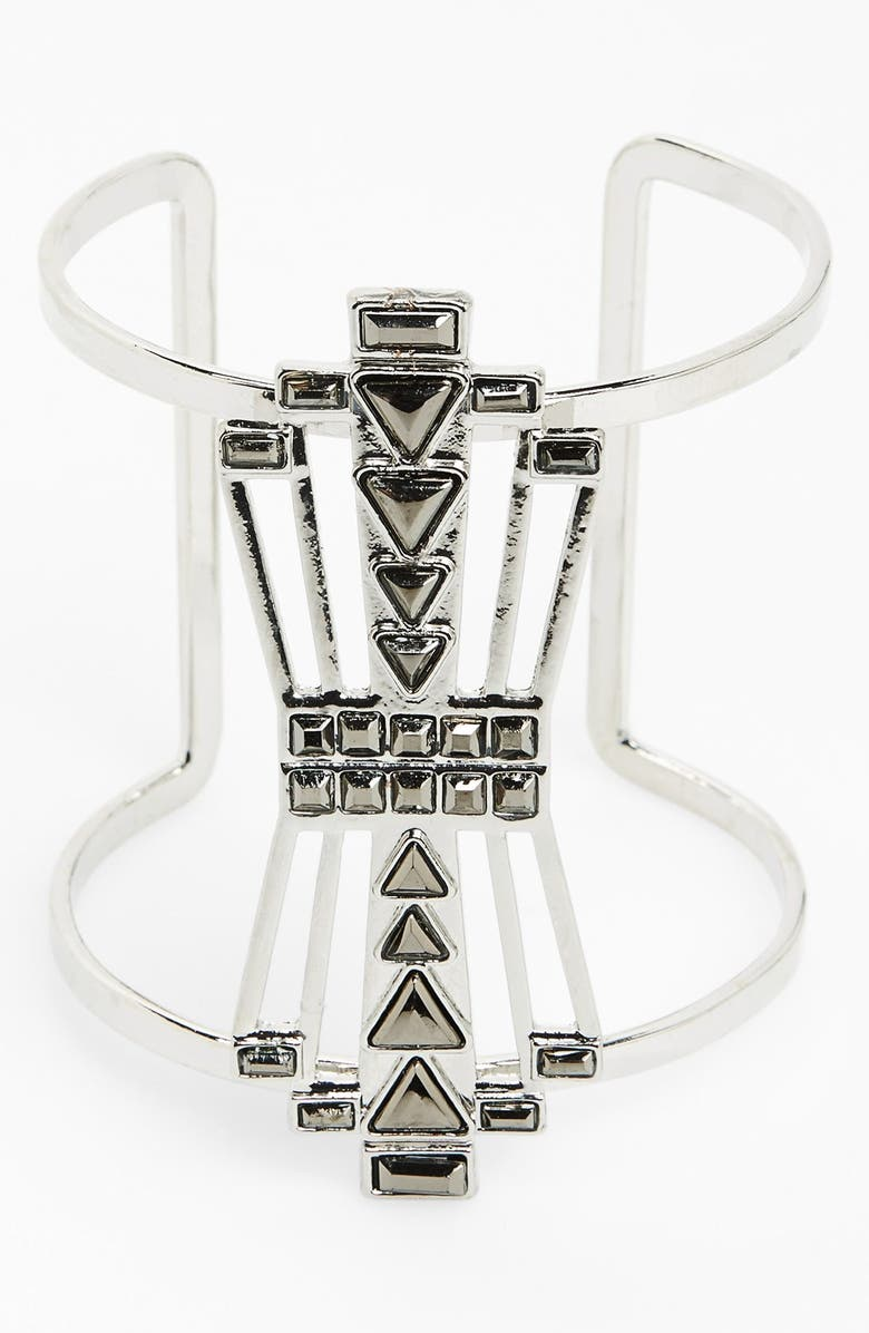 SPRING STREET 'Gatsby' Deco Statement Cuff, Main, color, 040