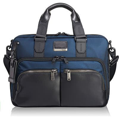 Tumi Alpha Bravo - Albany Slim Commuter Briefcase - Blue