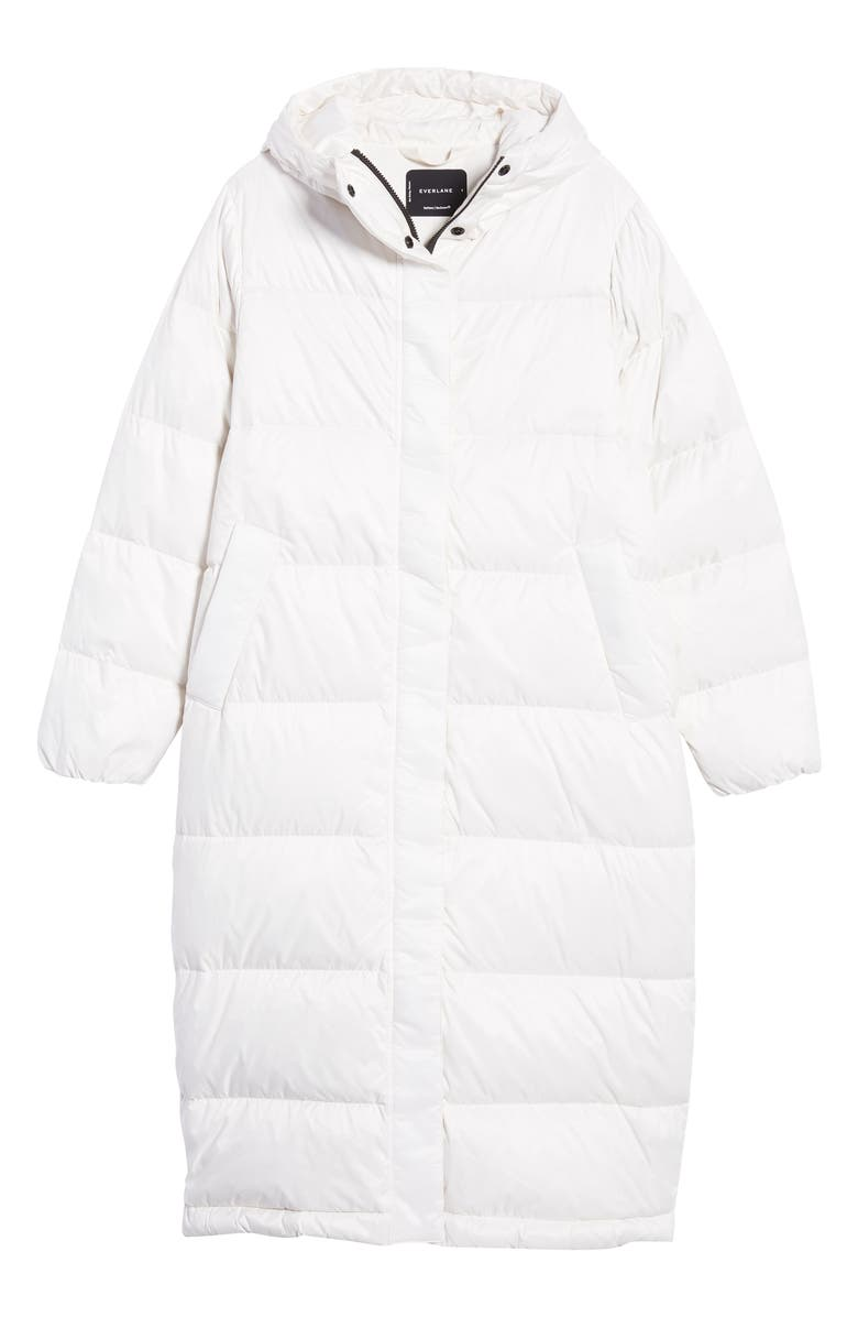 EVERLANE The ReNew Long Puffer Coat, Main, color, BONE