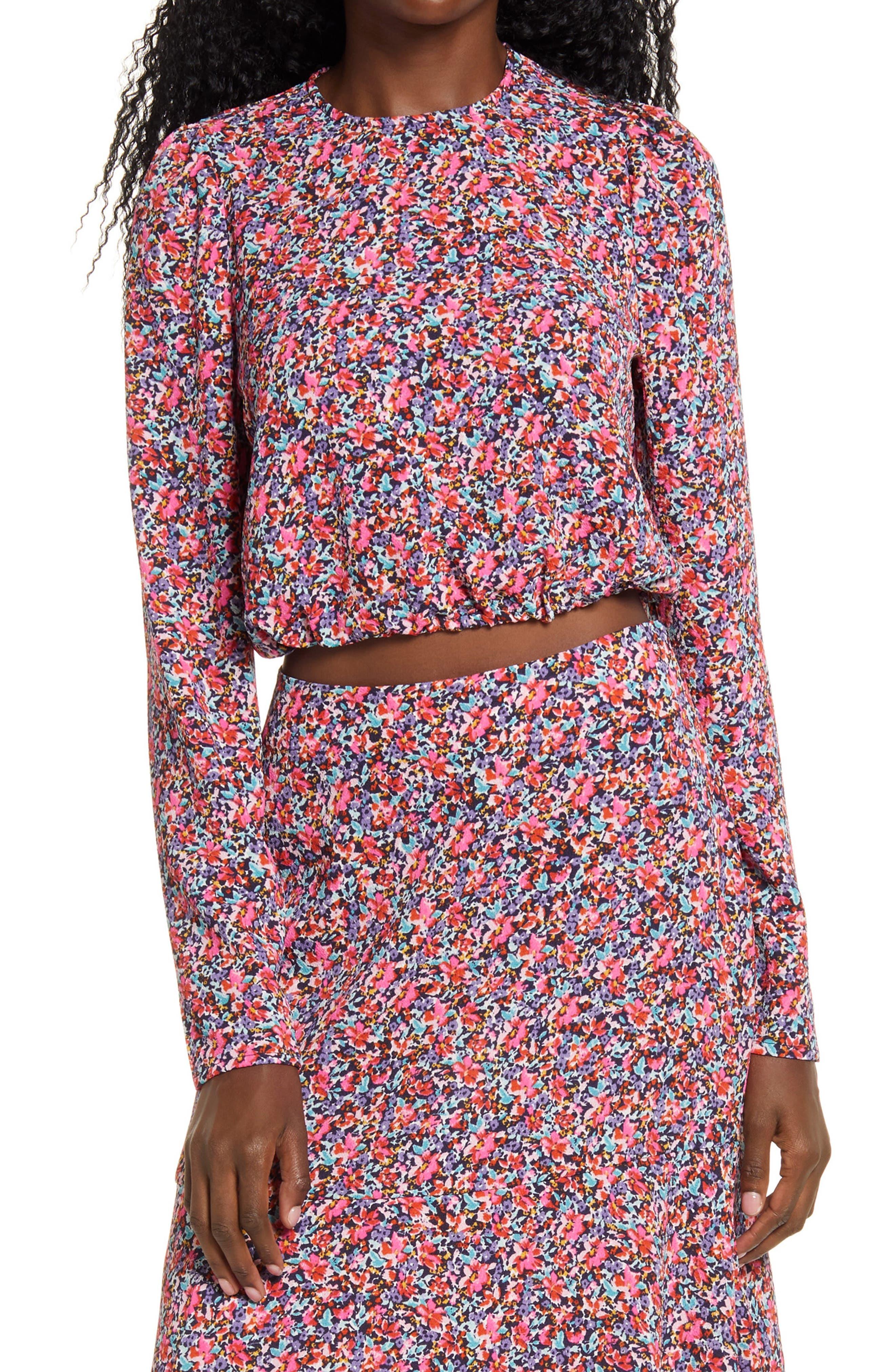 AFRM Reca Floral Tie Back Top | Nordstrom