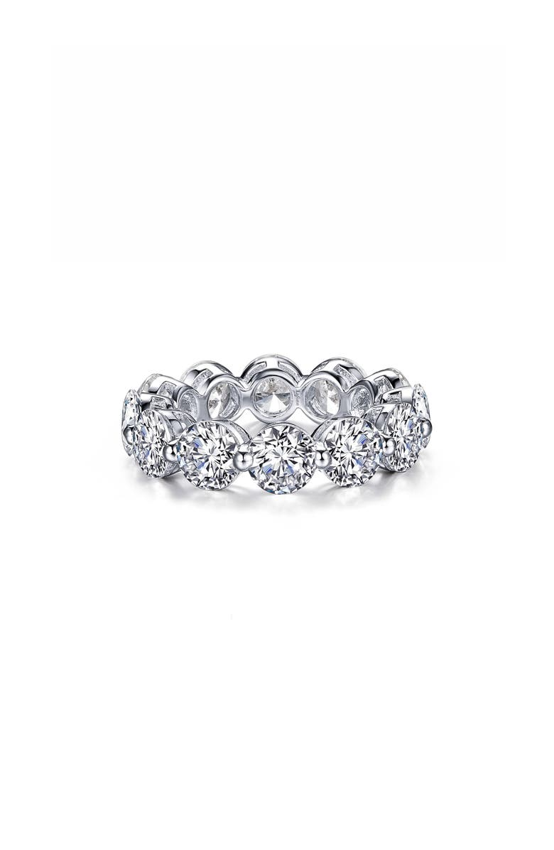 LAFONN Round Eternity Band, Main, color, SILVER/ CLEAR