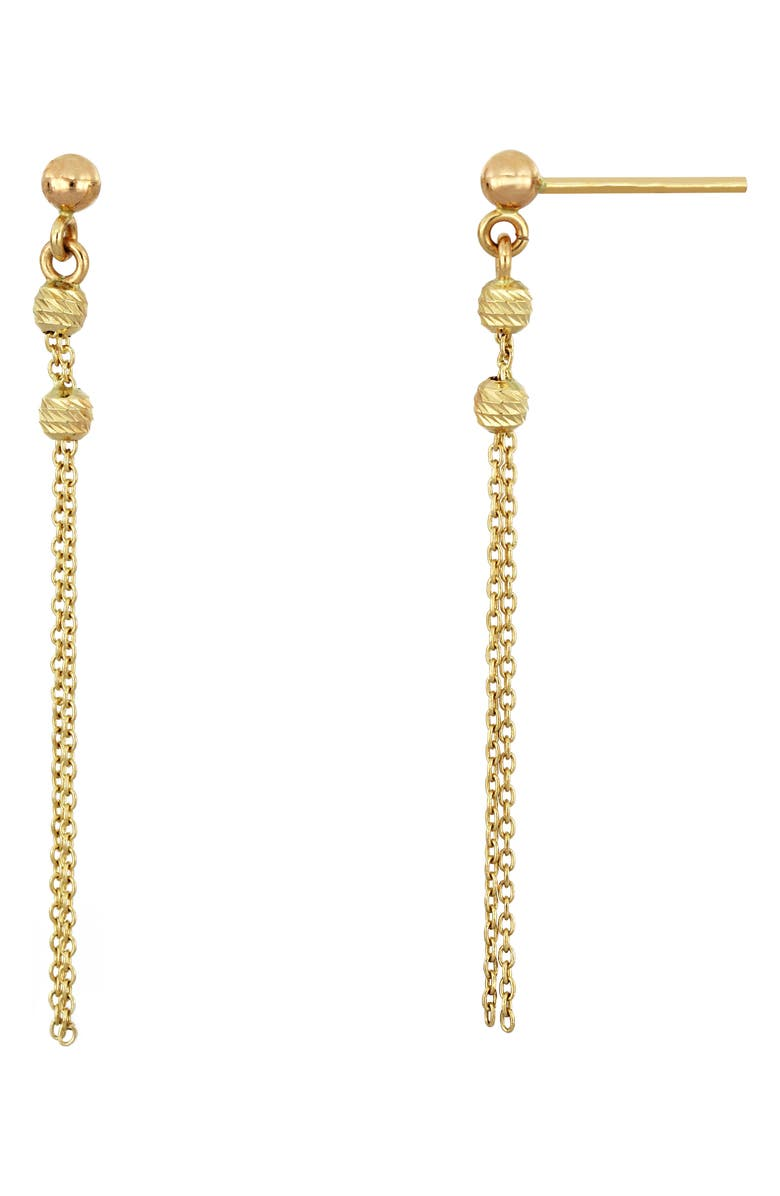 BONY LEVY 14K Gold Fringe Earrings, Main, color, YELLOW GOLD