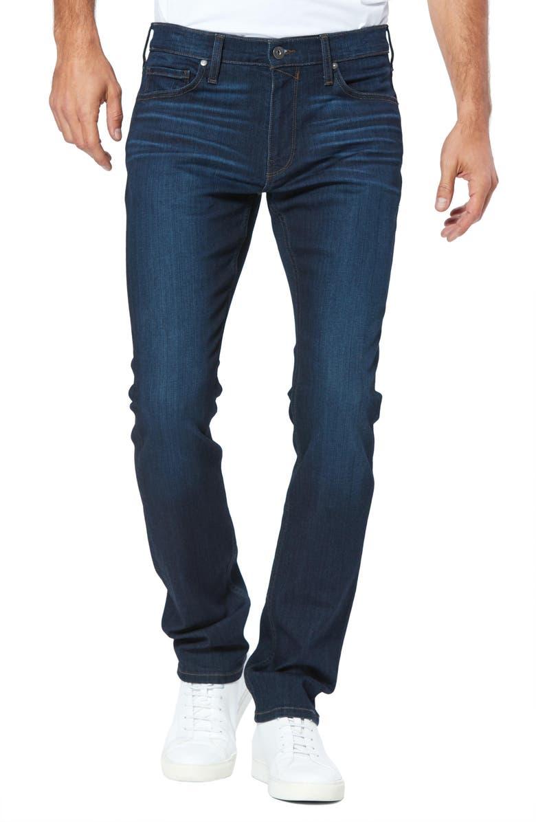 PAIGE Transcend Lennox Slim Fit Jeans, Main, color, BARRICK