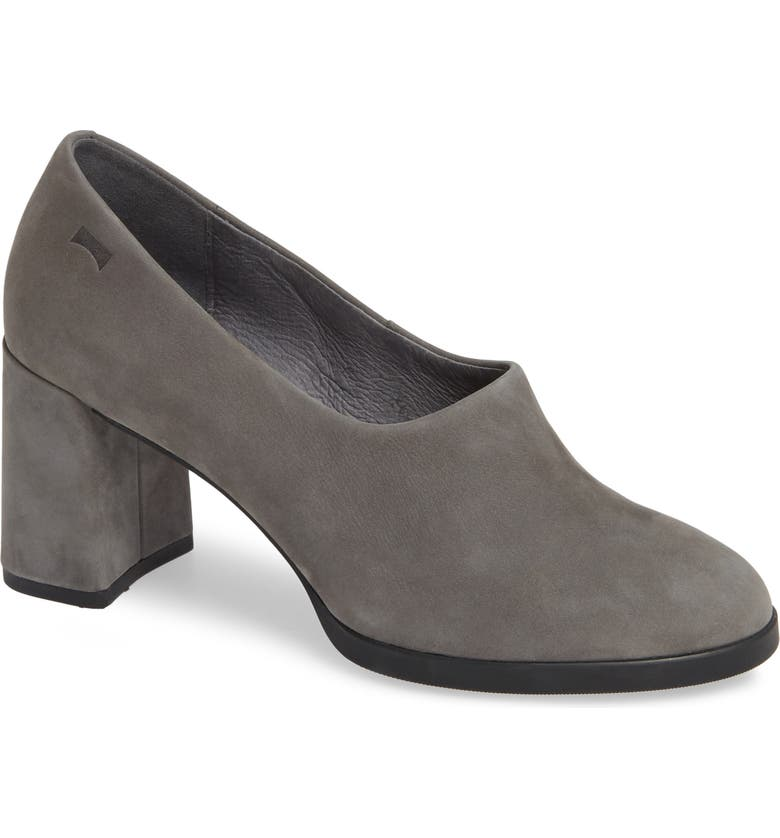 CAMPER Kara Pump, Main, color, MEDIUM GRAY LEATHER
