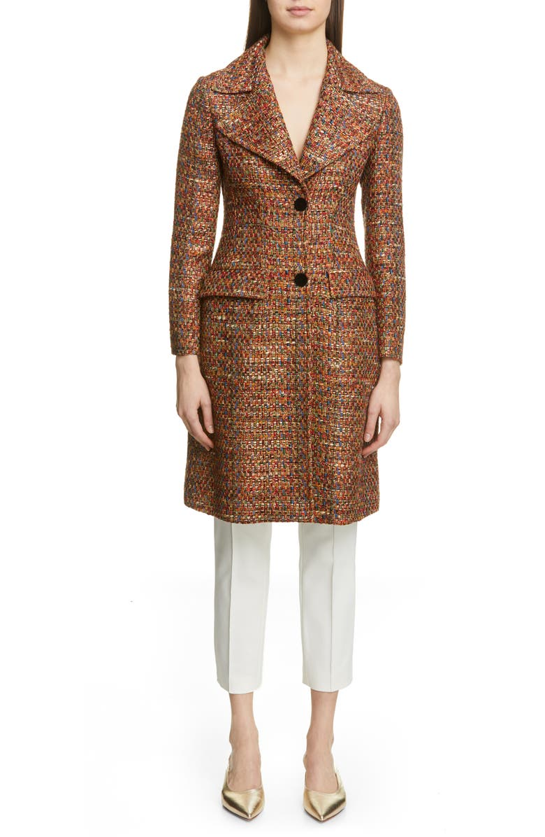 ETRO Two-Button Tweed Jacket, Main, color, 200