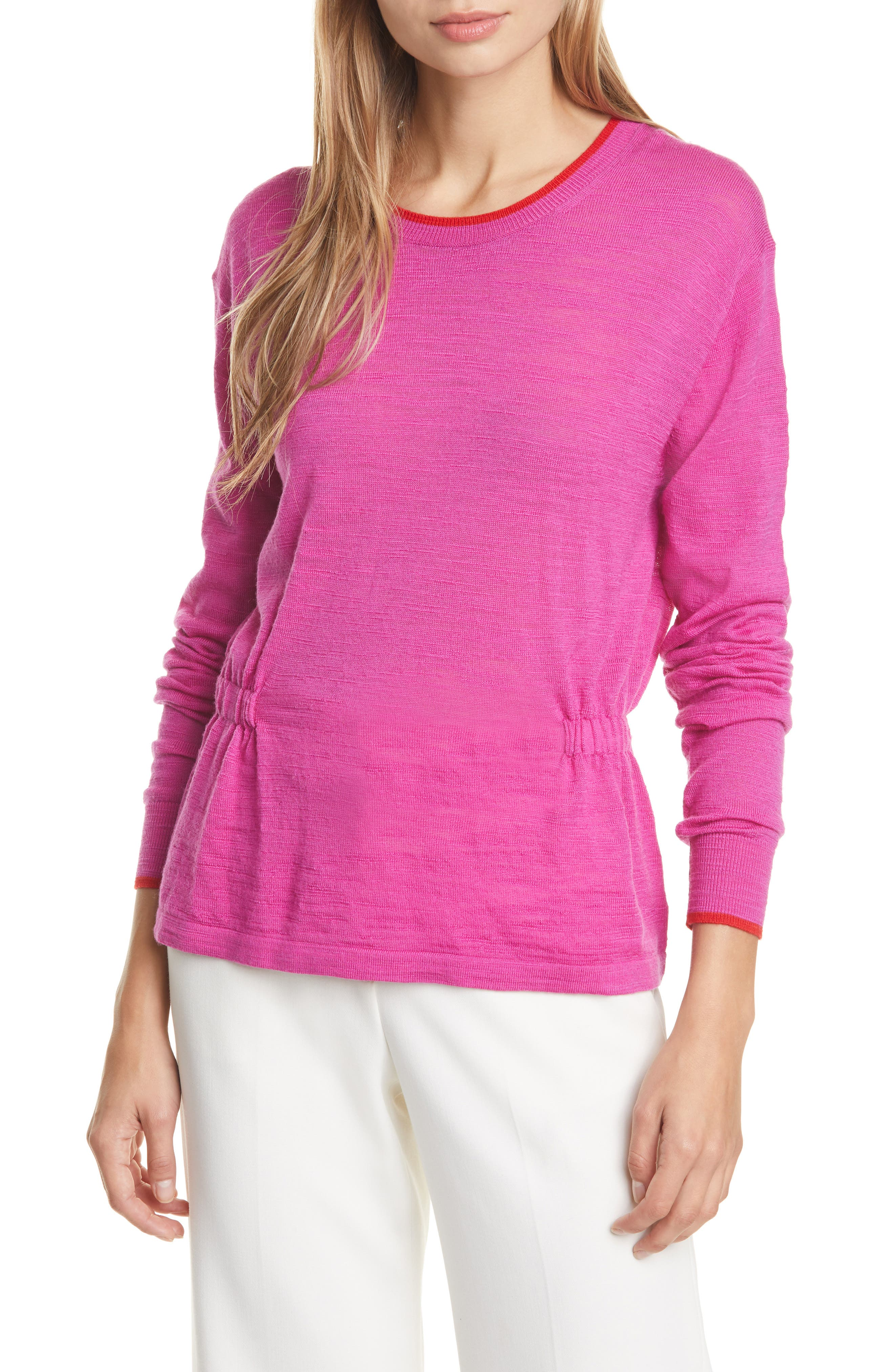Veronica Beard Sweaters Charlene Cinched Merino Wool Sweater