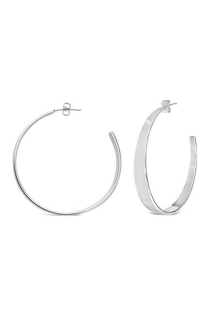 Image of Sterling Forever Graduating Hoop Earrings