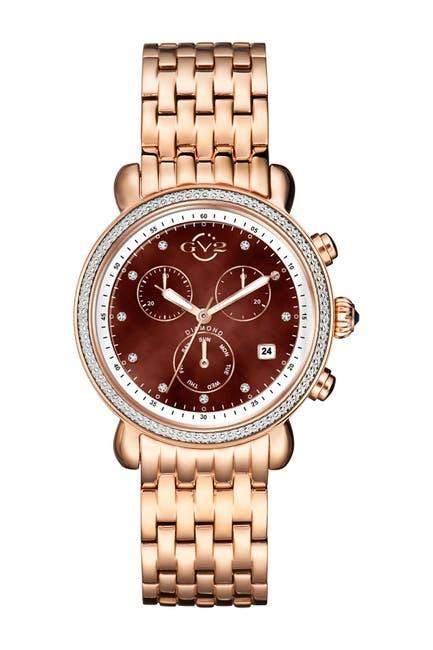 Image of Gevril Women's Marsala Chronograph Swiss Diamond Watch, 38mm - 0.0044 ctw