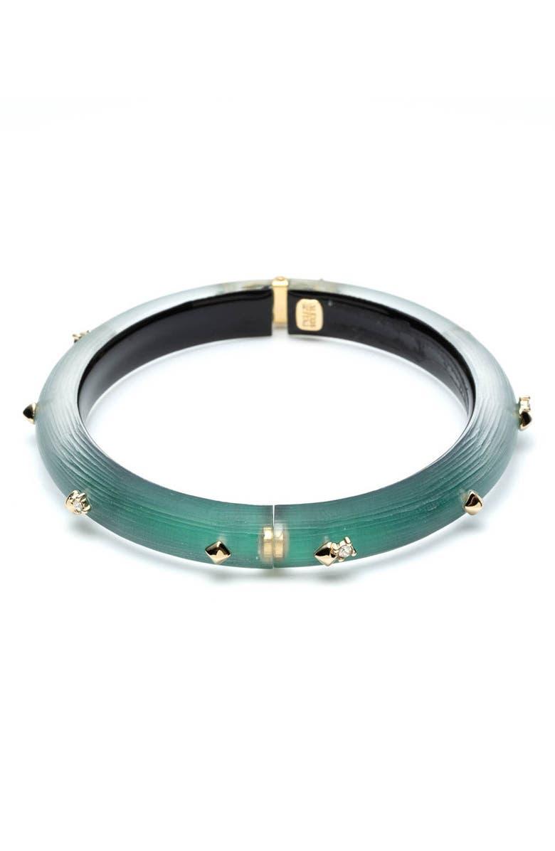 ALEXIS BITTAR Studded Hinge Bracelet, Main, color, BLACK FOREST