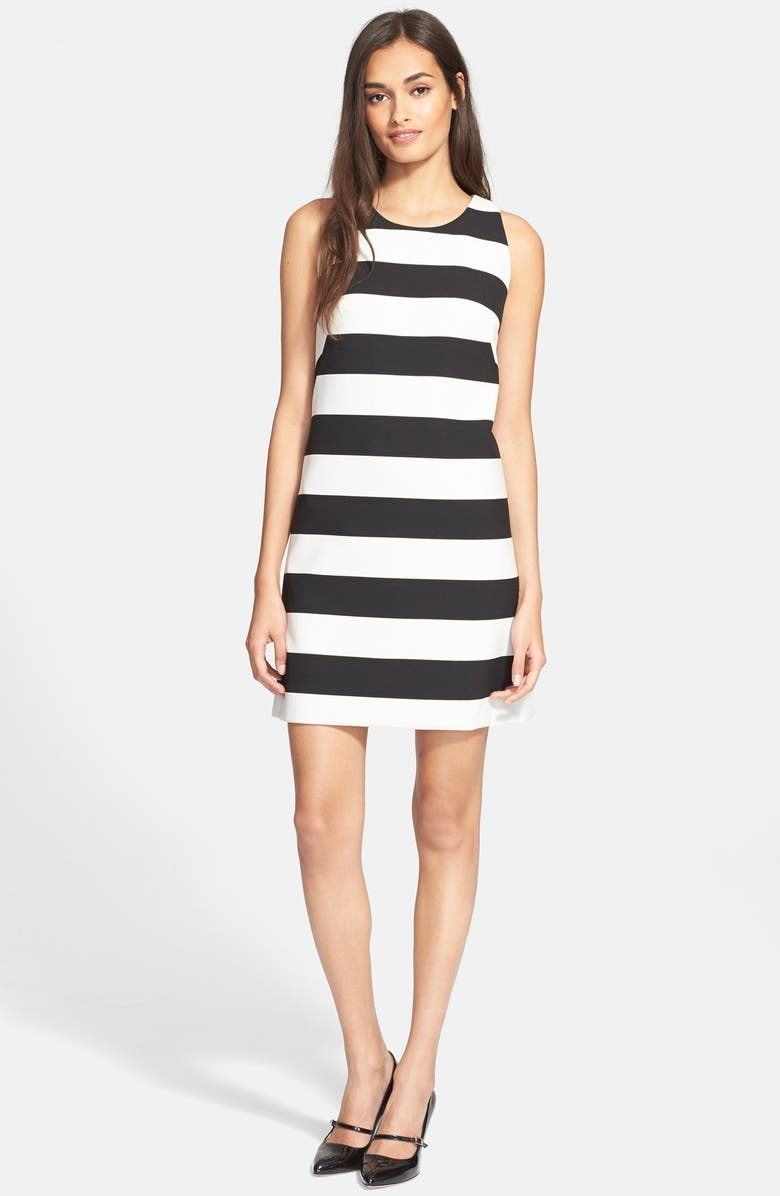 MILLY Stripe A-Line Dress, Main, color, 007