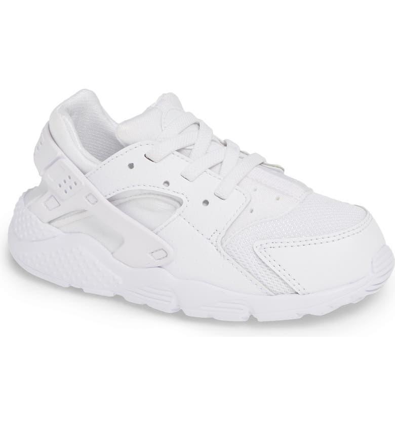 NIKE 'Huarache Run' Sneaker, Main, color, WHITE/ PURE PLATINUM/ WHITE