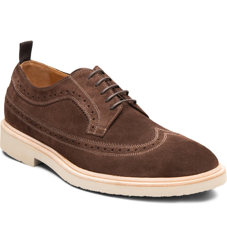 GORDON RUSH Arlo Wingtip, Main, color, DARK BROWN LEATHER