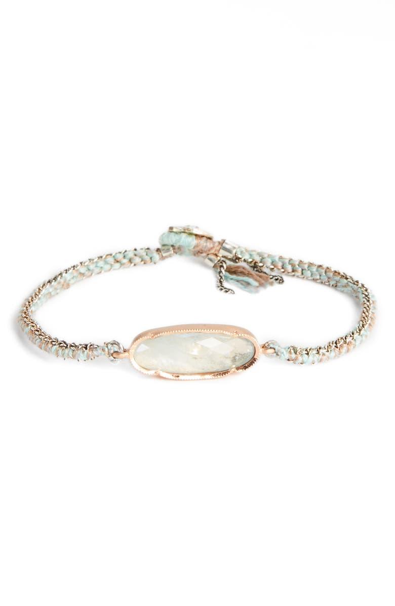 BROOKE GREGSON Icicle Rose Aquamarine Bracelet, Main, color, 650
