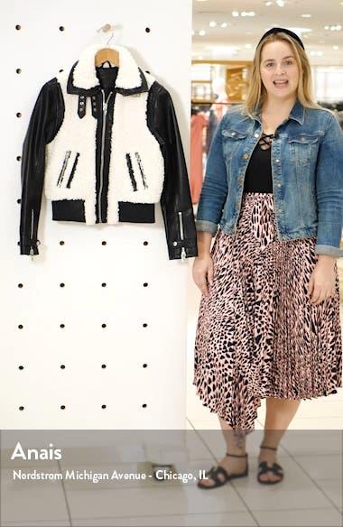Faux Leather & Fleece Bomber Jacket, sales video thumbnail
