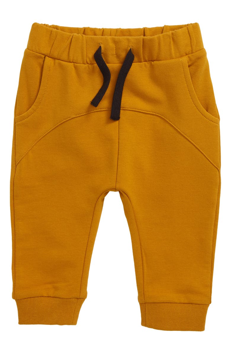 MILES BABY Knit Jogger Pants, Main, color, GOLD