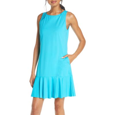 Tommy Bahama Flounce Hem Tank Dress, Blue