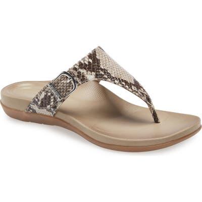 Aetrex Rita Flip Flop, Grey