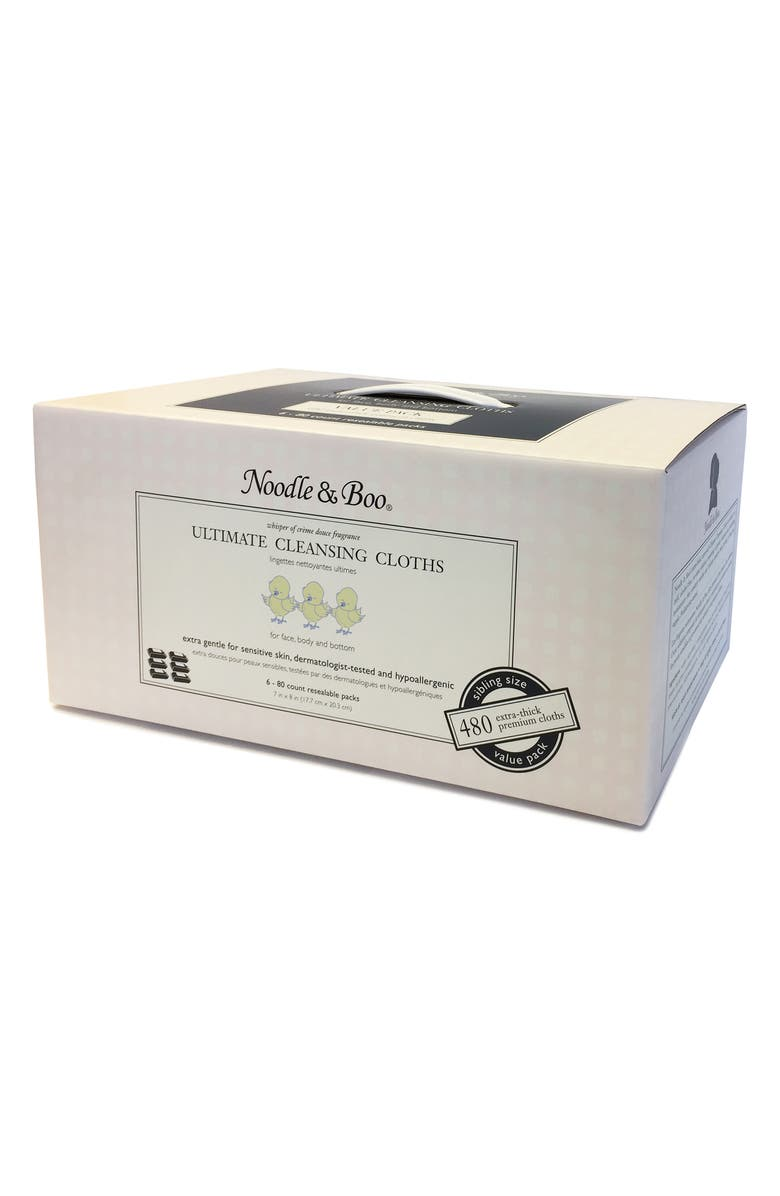NOODLE & BOO 6-Pack Ultimate Cleansing Cloths, Main, color, 100