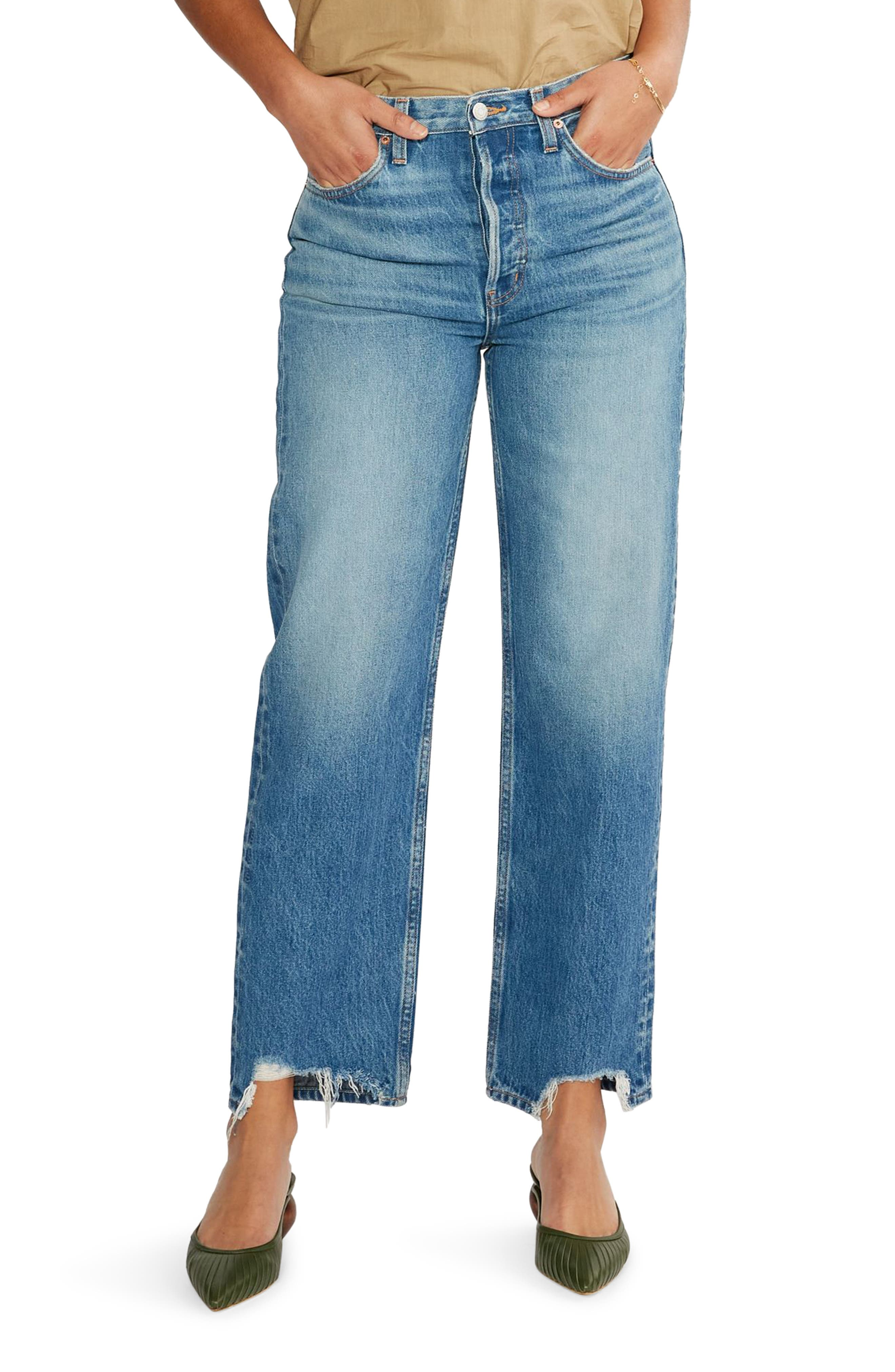 Women's Etica Tyler High Waist Straight Leg Ankle Jeans