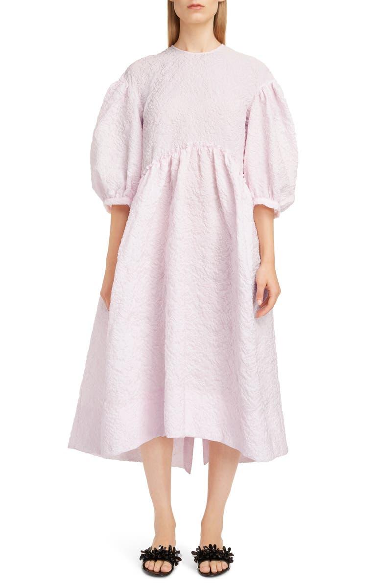 SIMONE ROCHA Floral Cloqué Dress, Main, color, 650