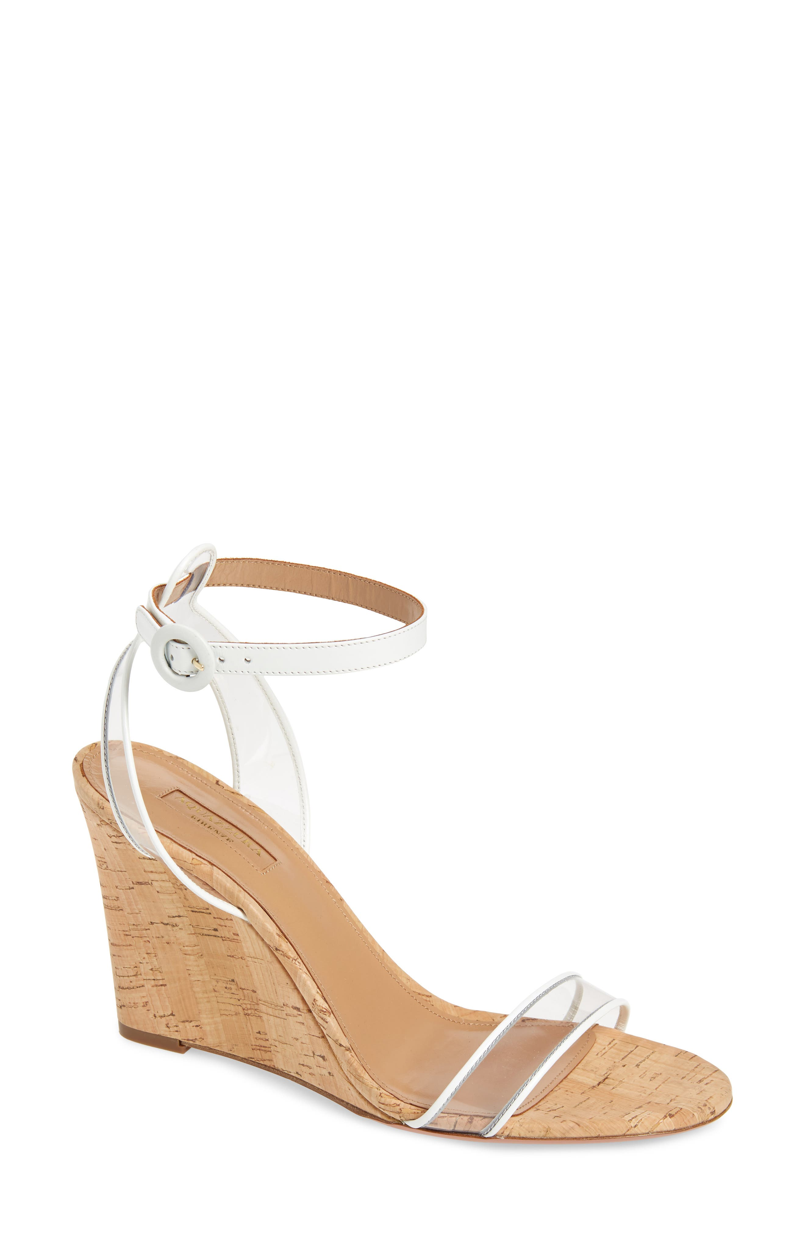 Aquazzura Slippers Minimalist Ankle Strap Wedge