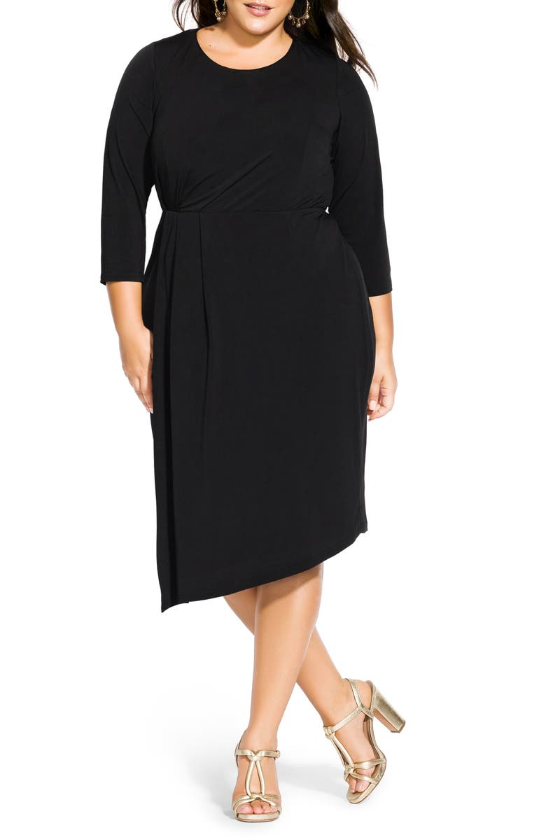 CITY CHIC Simply Stylish Dress, Main, color, BLACK